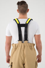 H-Suspenders For Overalls - With Lime Trim