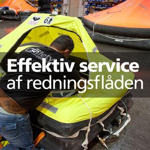 Effektiv service af redningsflåden